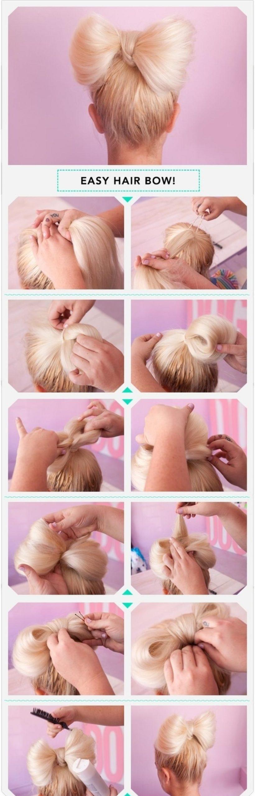 Φιόγκος στα μαλλιά για την Πρωτοχρονιά χτένισμα βήμα βήμα