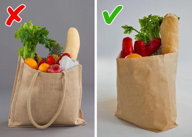Χρησιμοποιούμε τσάντες τροφίμων για τα ψώνια μας!