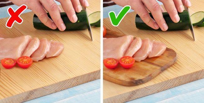 Δεν κάνει να κόβουμε λαχανικά και κρέας στο ίδιο ξύλο κοπής!