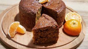 (Για το Σάββατο) Υγιεινό κέικ μανταρίνι με αλεύρι ολικής άλεσης & ζάχαρη καρύδας