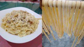 Συνταγή για χειροποίητες ταλιατέλες με μόλις 6 υλικά