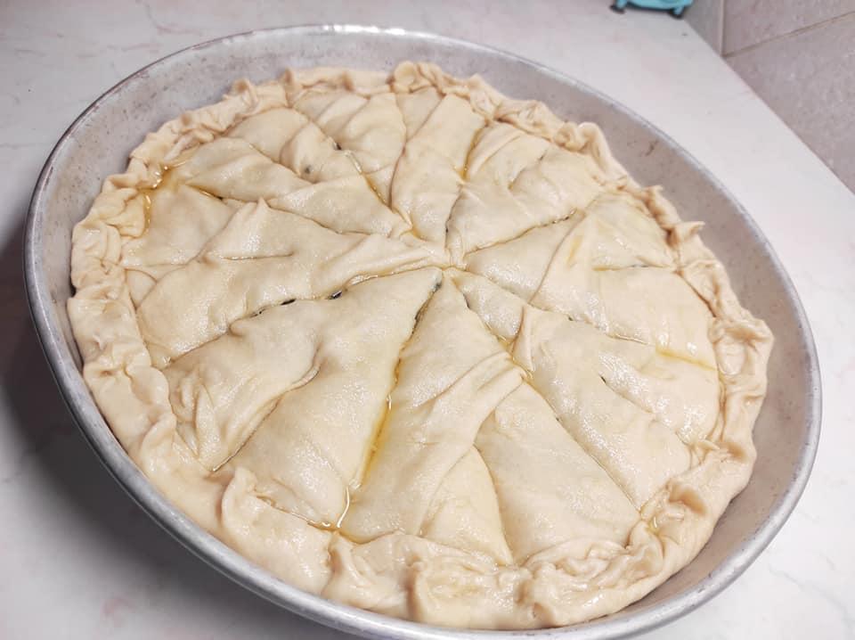 σπανακοτυρόπιτα με τραγανό φύλλο συνταγή