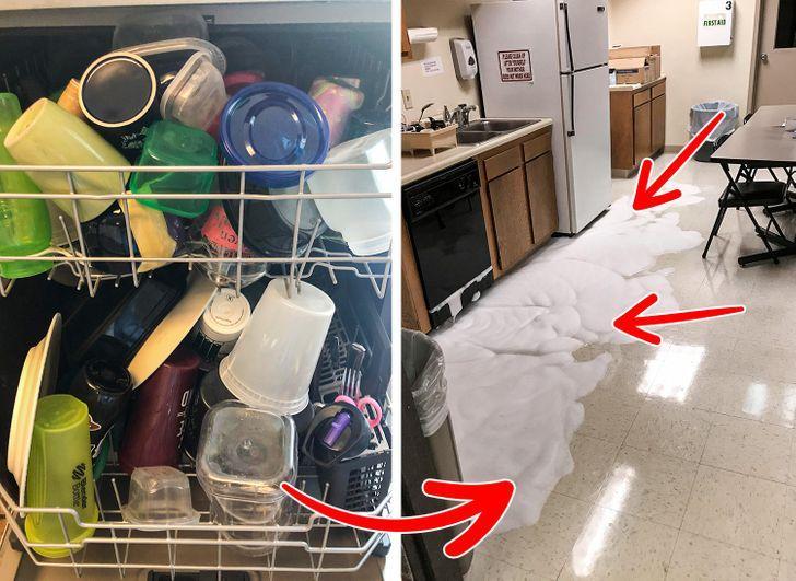 Απαγορεύεται να βάζουμε υγρό πιάτων στο πλυντήριο πιάτων