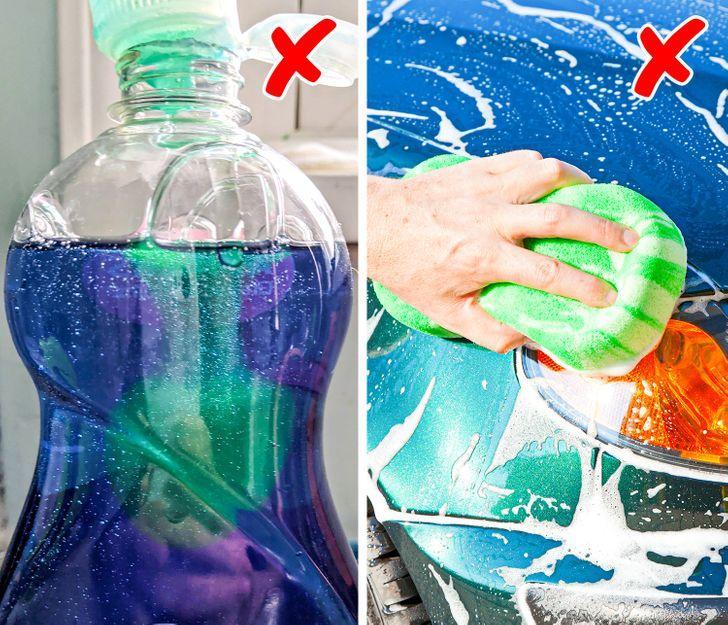 Απαγορεύεται να πλένουμε το αυτοκίνητο με υγρό πιάτων