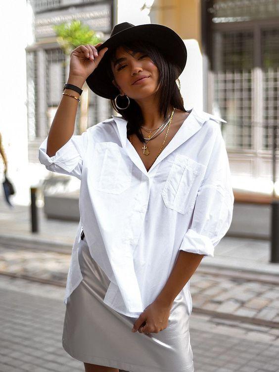 Μόδα 2021_Oversized γυναικείο πουκάμισο outfit