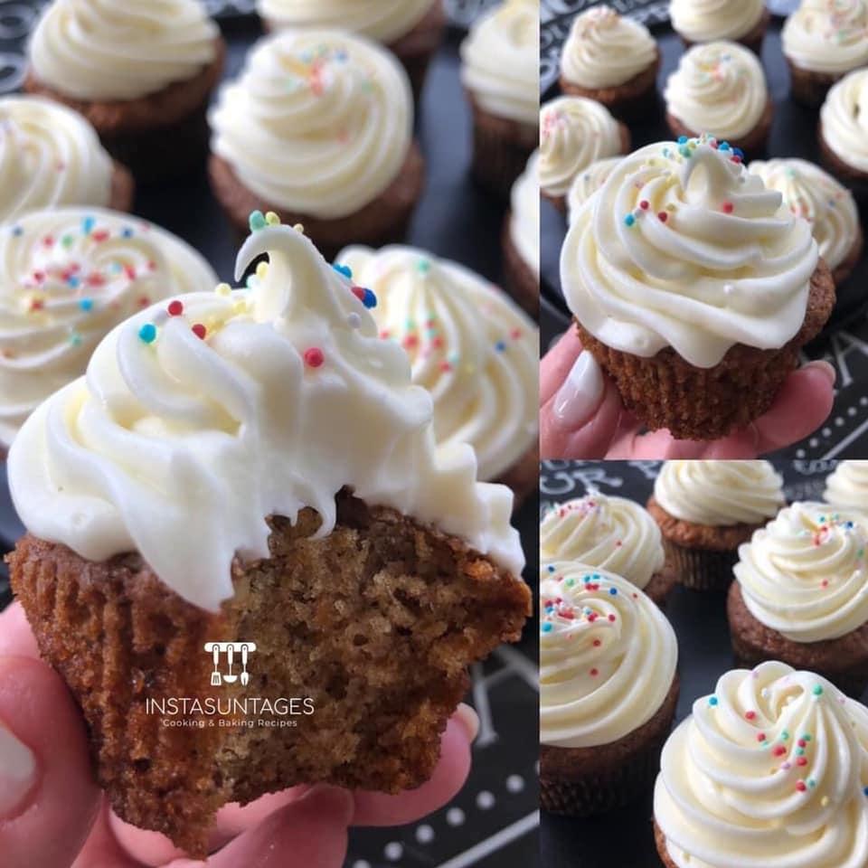 συνταγή για cupcakes καρότου_ με frosting τυριού_