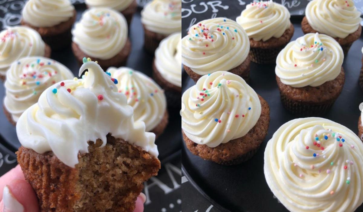 Cupcakes καρότου με frosting τυριού