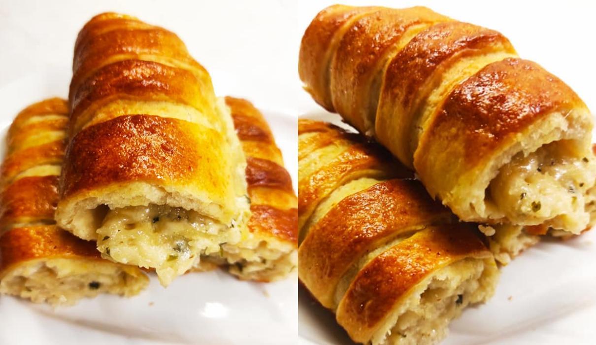 Ρολάκια ζύμης_ γεμιστά με τυρί_