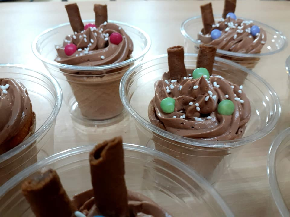 Κέρασμα για σχολείο_Cupcakes σε χωνάκι_