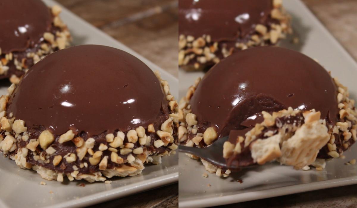 Πάστες σοκολάτας_ με κρέμα_ και μπισκότα πτι μπερ_