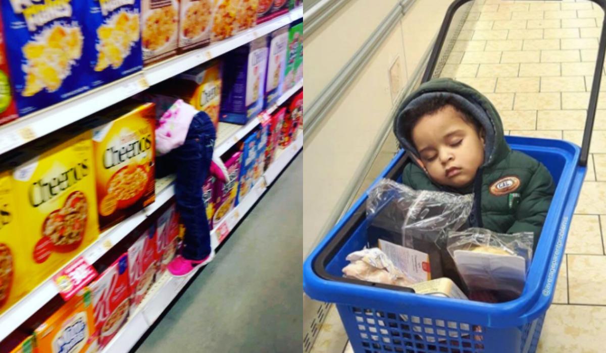 Παιδιά στο σούπερ μάρκετ_