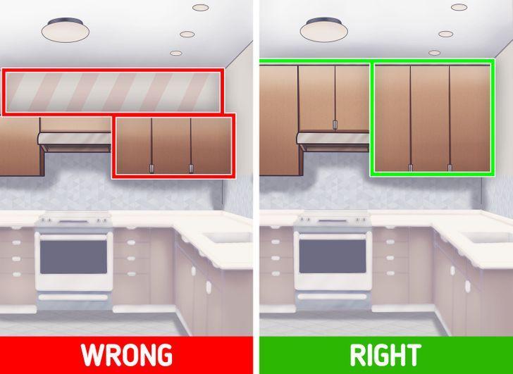 λάθη στα ντουλάπια της κουζίνας_