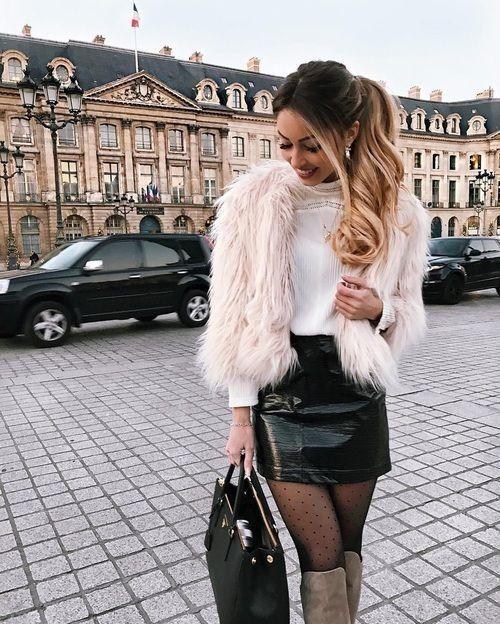 ροζ_ faux fur_γούνινο πανωφόρι_