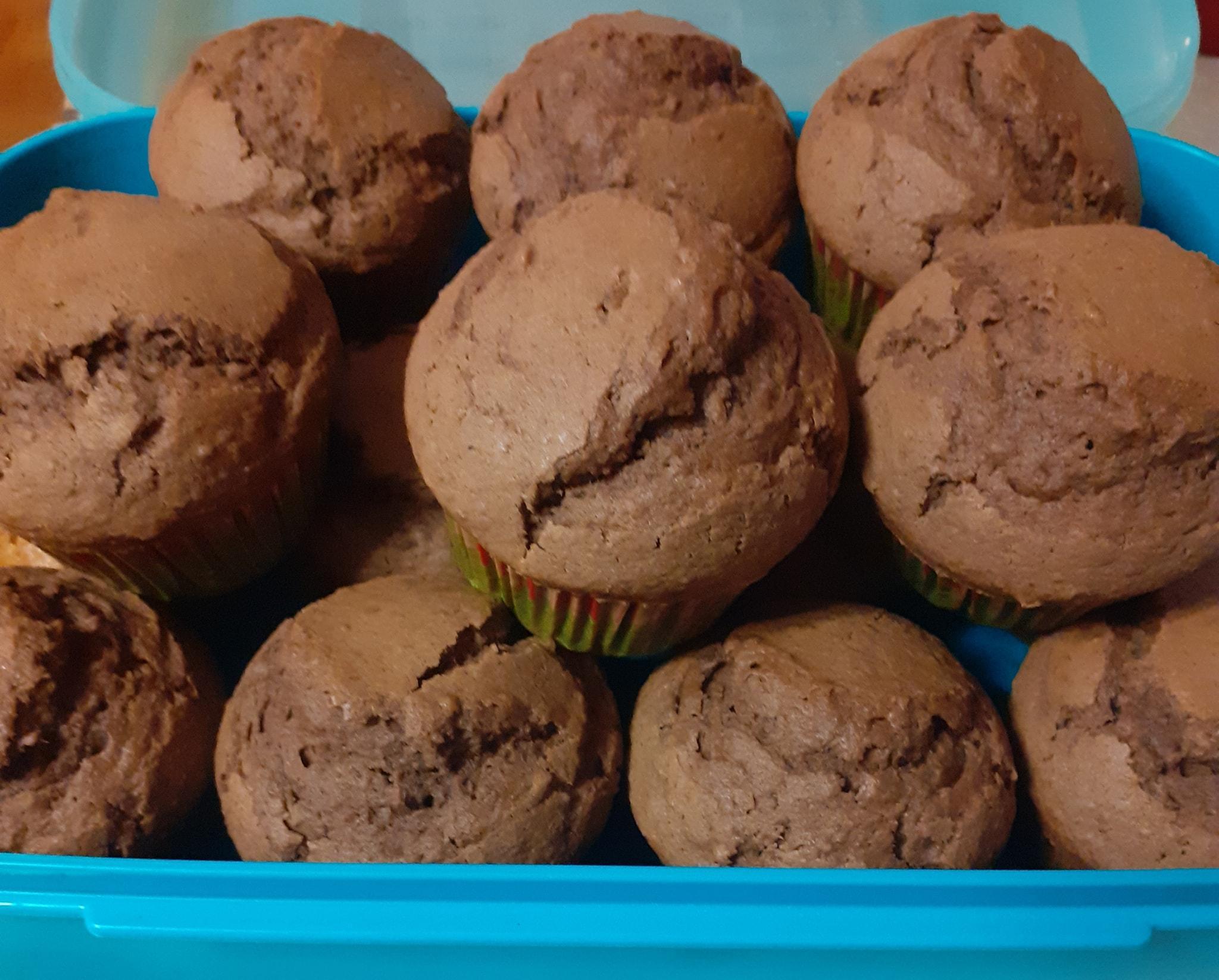 muffins_με κάστανο_και_κακάο_