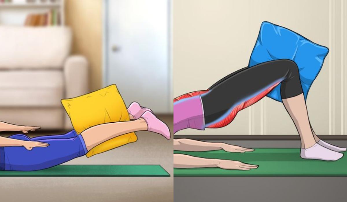 10 γυμναστικές_ ασκήσεις _που μπορείς_ να κάνεις_ μόνο _με μαξιλάρι_