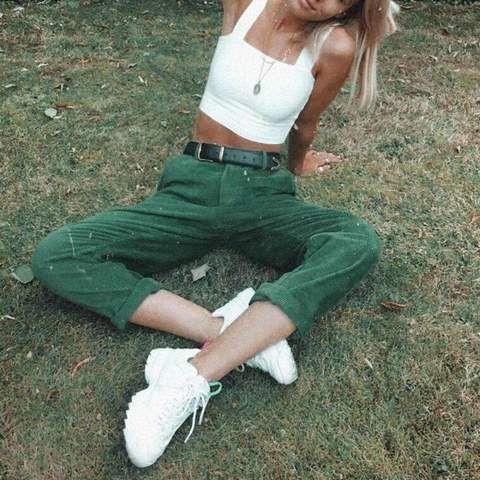 πράσινο_κοτλέ_παντελόνι_