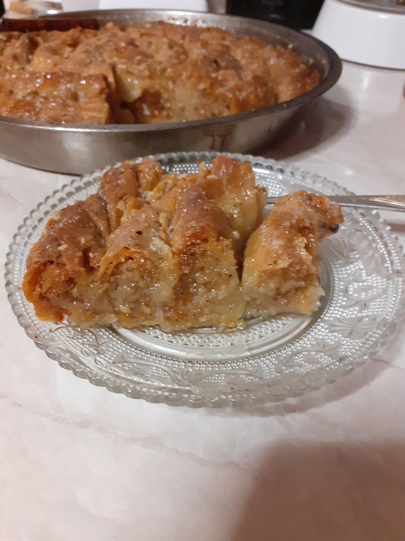 Πλατσέντα Παραδοσιακό σιροπιαστό_ γλυκό Μυτιλήνης_