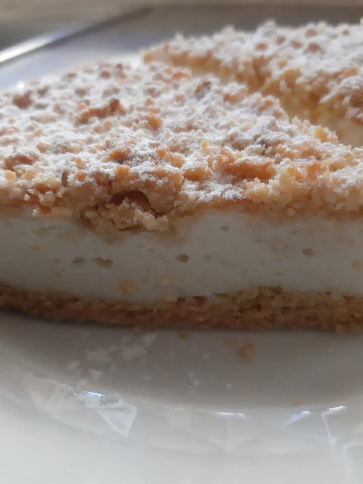 κραμπλ_κέικ με_κρέμα_γιαουρτιού_συνταγή_