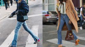 Split hem jeans_