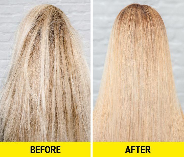 îndreptați părul_cu_lapt_