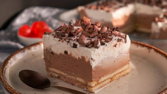 Γλυκό ψυγείου με σοκολάτα και μπισκότα από το Live Kitchen_