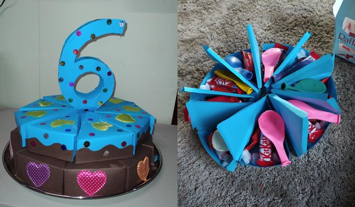 Χάρτινη τούρτα για κέρασμα στο σχολείο_