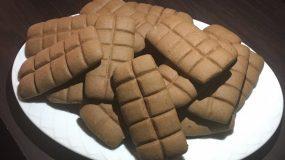 Συνταγή για μπισκότα σε σχήμα σοκολάτας_
