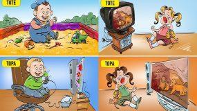 Παιδική ηλικία τότε και τώρα: 14 σκίτσα που δείχνουν την διαφορά_