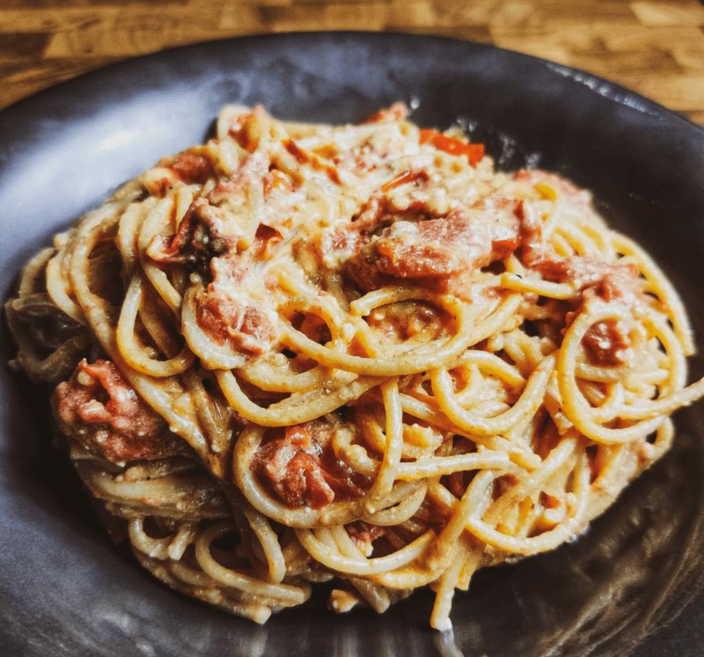 tiktok Pasta _Μακαρόνια με φέτα και ντοματίνια_ στο φούρνο_
