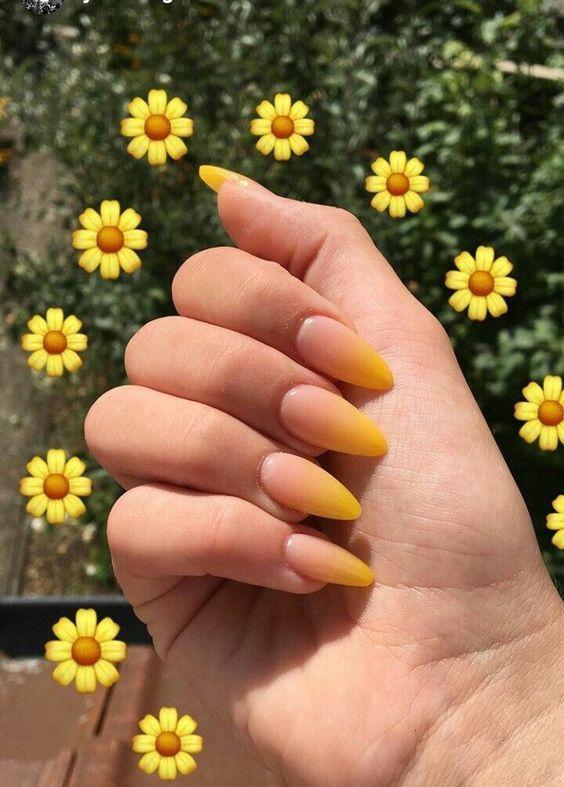 όμπρε_κίτρινα_νύχια_