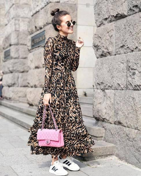 Ανετο _φόρεμα_animal_print_
