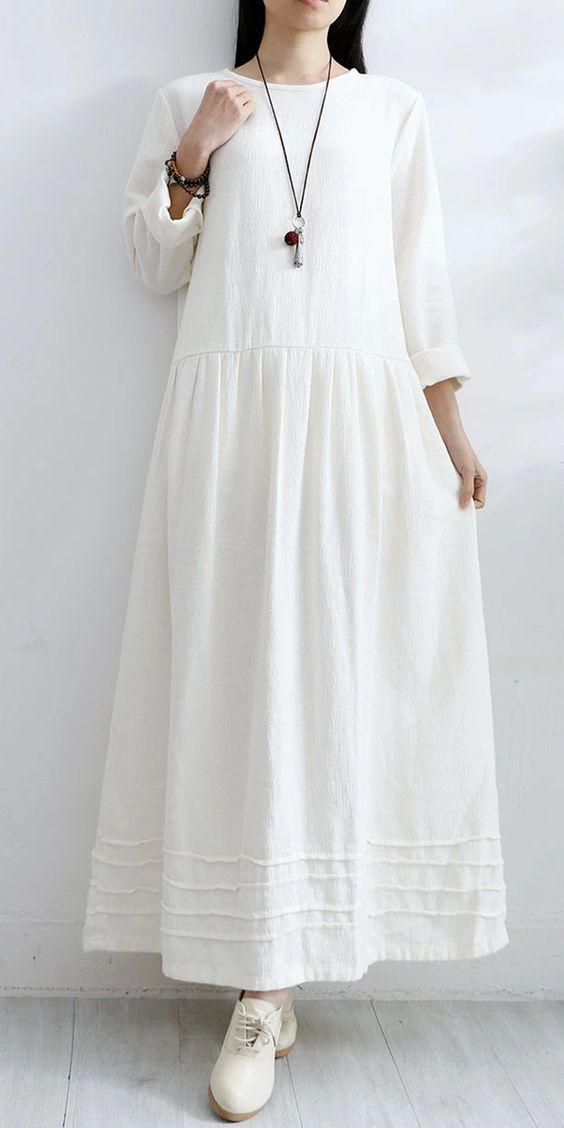 λευκό_ανετο _φόρεμα_
