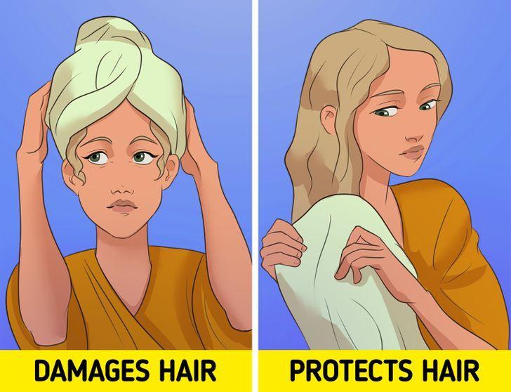 στεγνώστε_απαλά_τα_μαλλιά_σας_με_το_σαμπουάν_για_να_μην_έχετε_κόμπους_και_μπερδεμένα_μαλλιά_