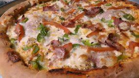 Πίτσα με Φιλαδέλφεια στο στεφάνι_