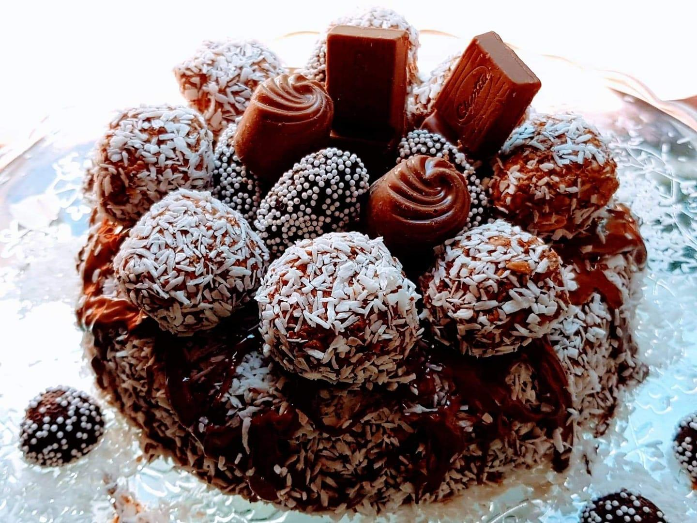 Τούρτα σοκολάτα με βρωμη_