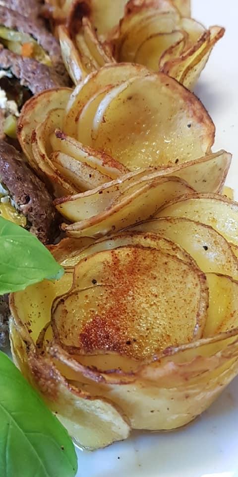 πατάτες_ φούρνου_ σε σχήμα _λουλούδι_