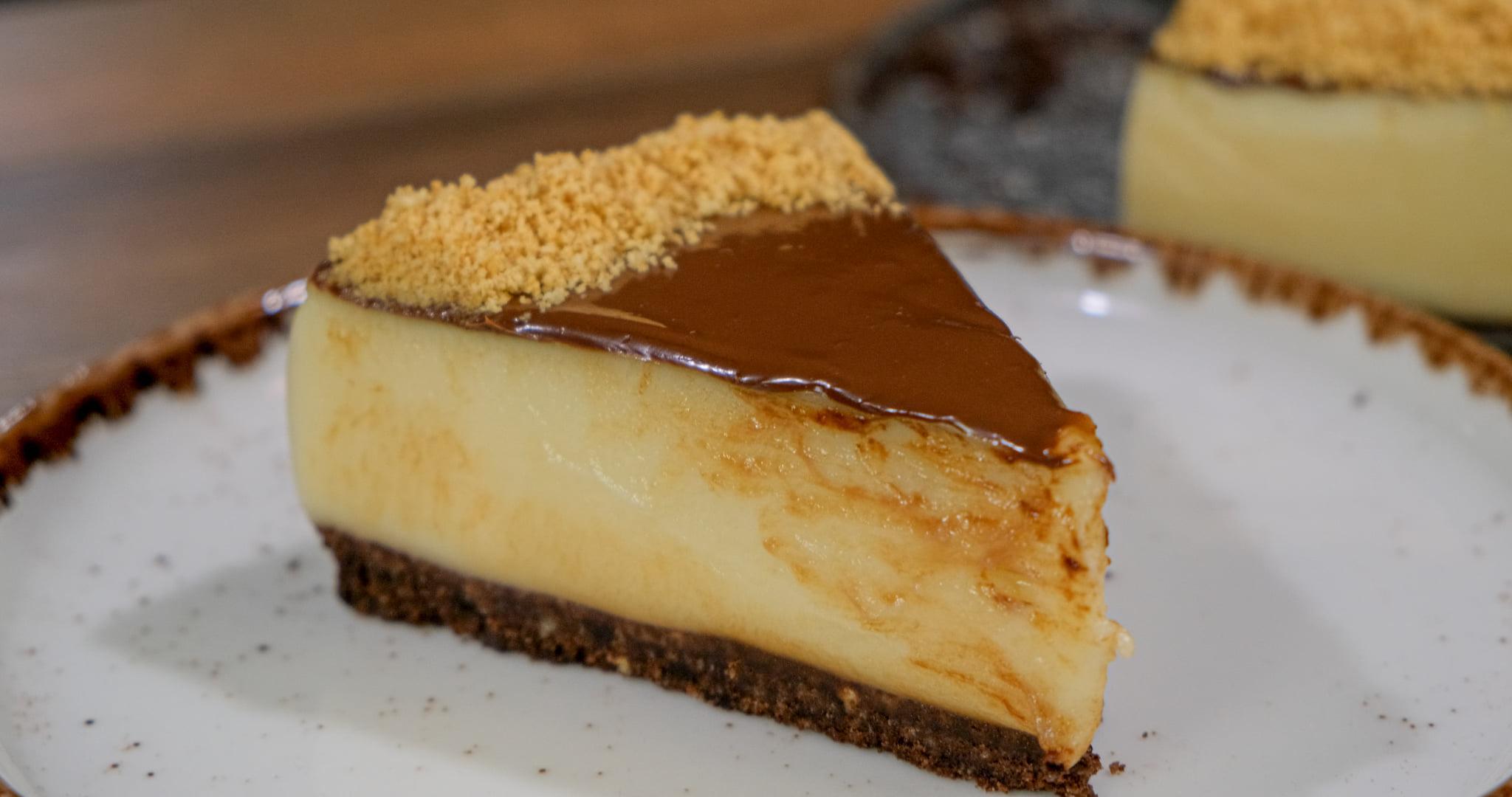 Νηστήσιμο cheesecake με πραλίνα_