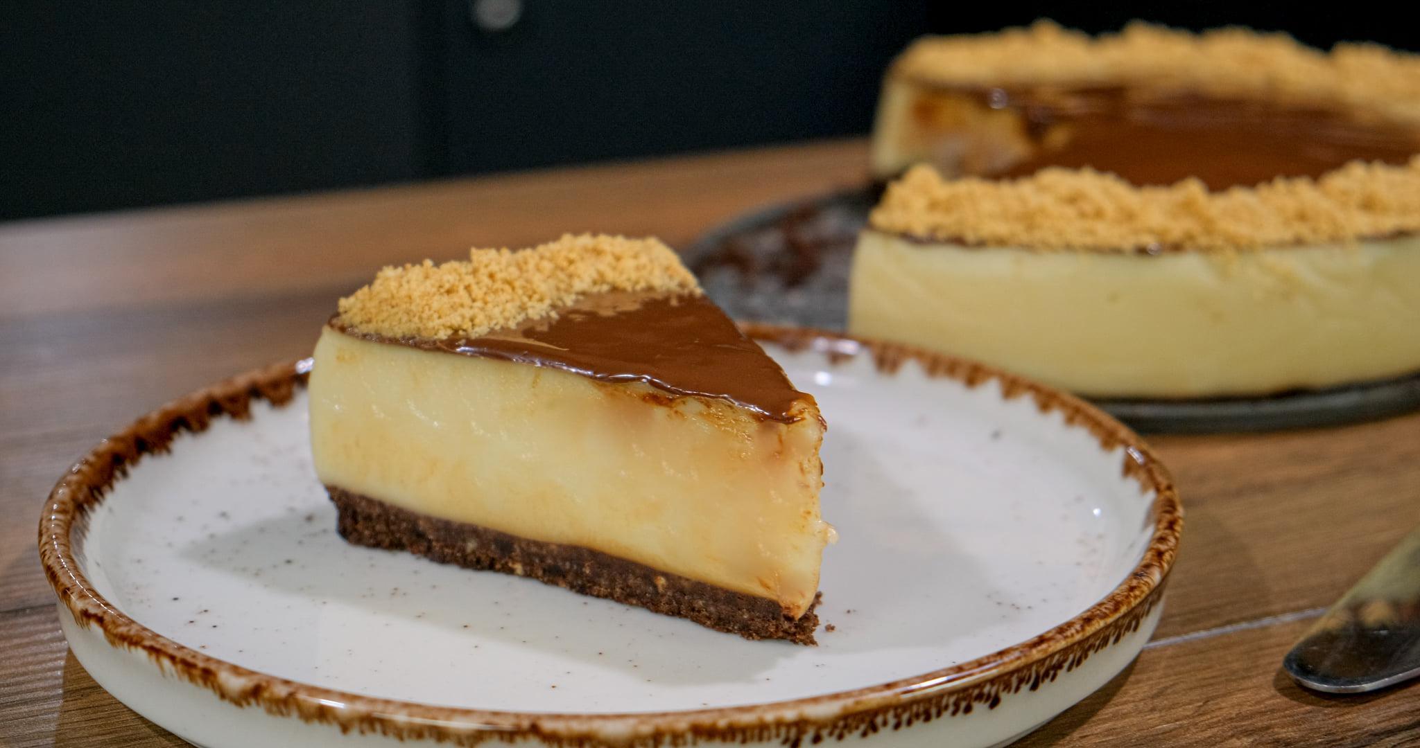 Νηστήσιμο _cheesecake_ με πραλίνα_