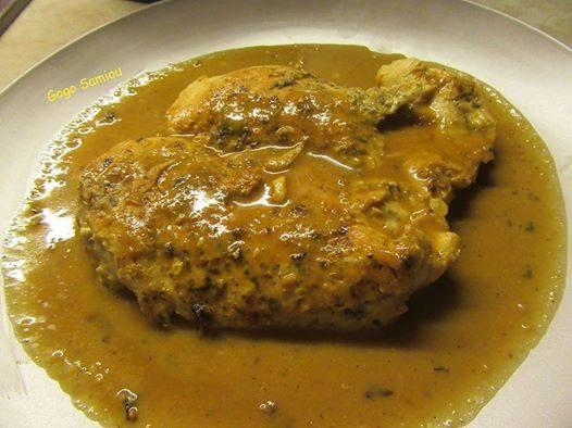 Φιλέτο _κοτόπουλο _για δίαιτα_ με σώς_ μουστάρδας_