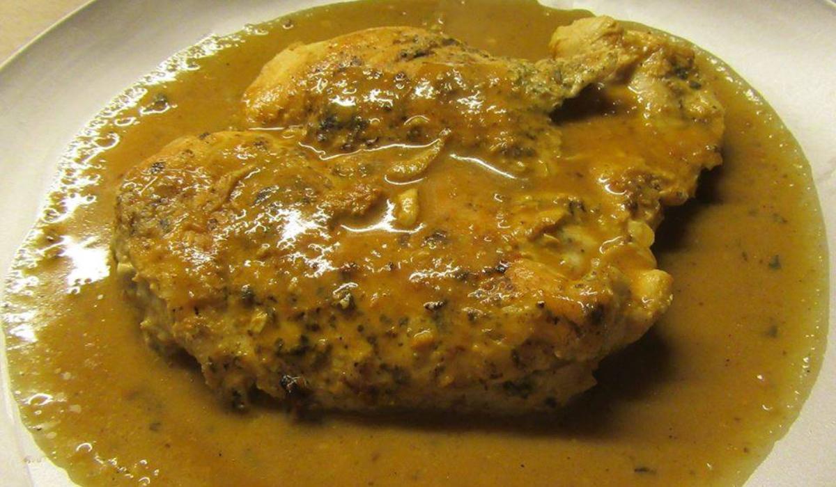 Φιλέτο κοτόπουλο για δίαιτα με σώς μουστάρδας_