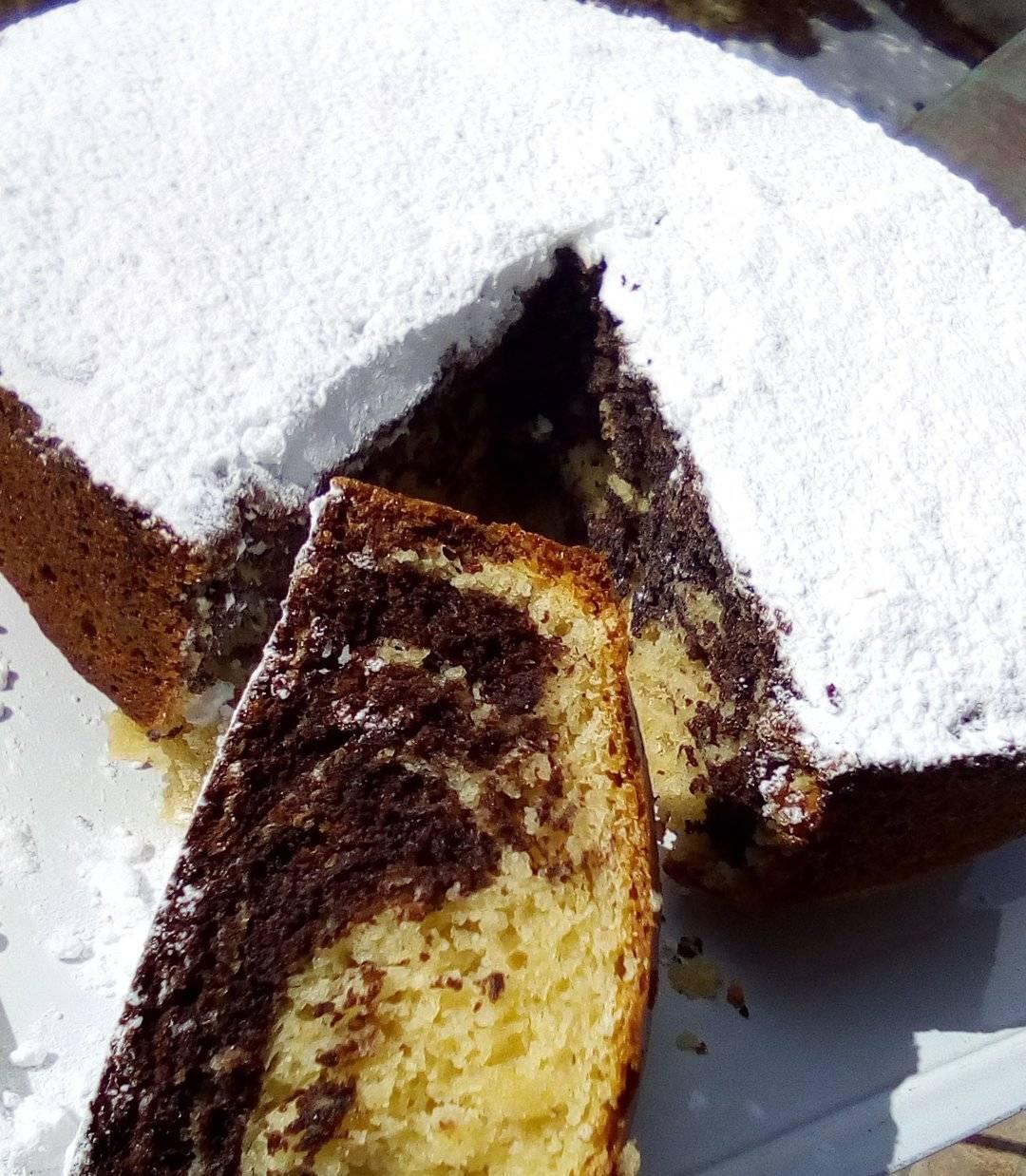 Νηστίσιμο_ κέικ_ με βανίλια _και σοκολάτα_