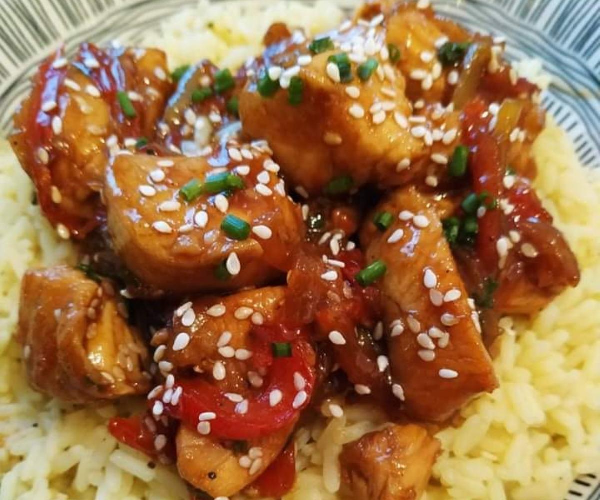 Κοτόπουλο γλυκόξινο μαριναρισμένο σε σάλτσα σόγιας_