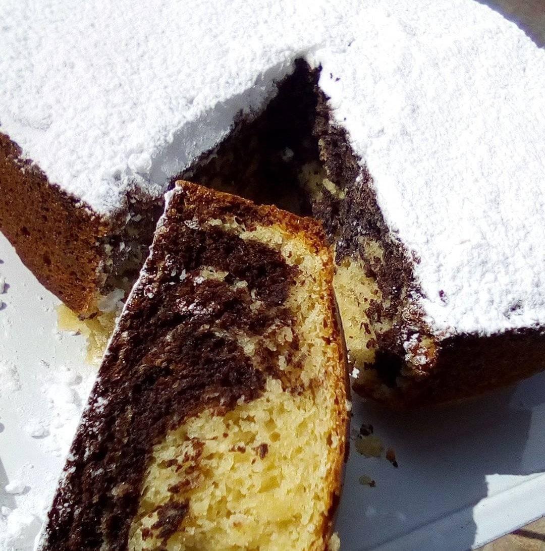 Νηστίσιμο κέικ με βανίλια και σοκολάτα_