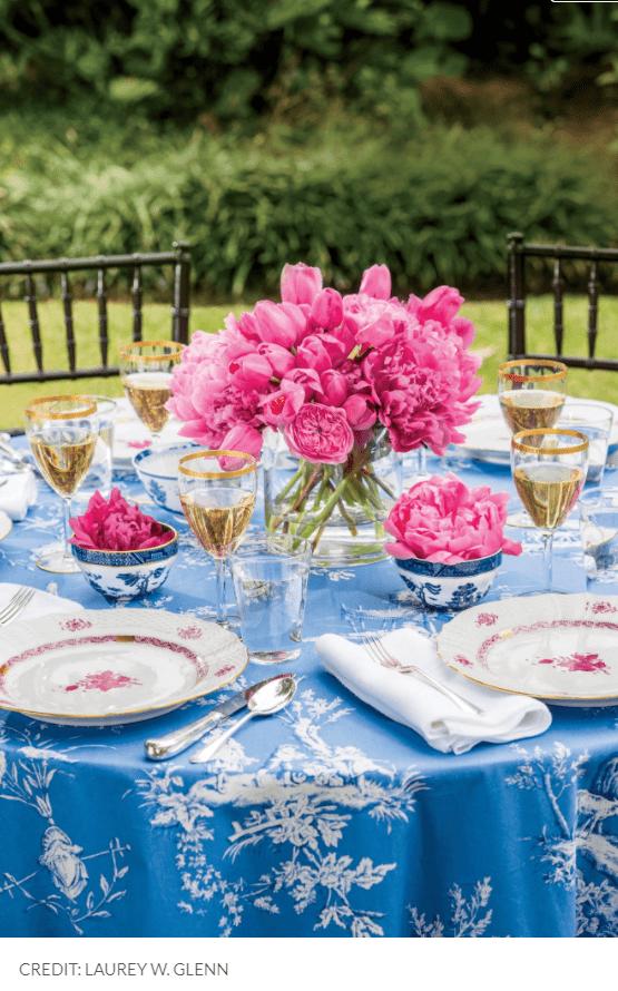 floral διακόσμηση_στο_πασχαλινό τραπέζι_