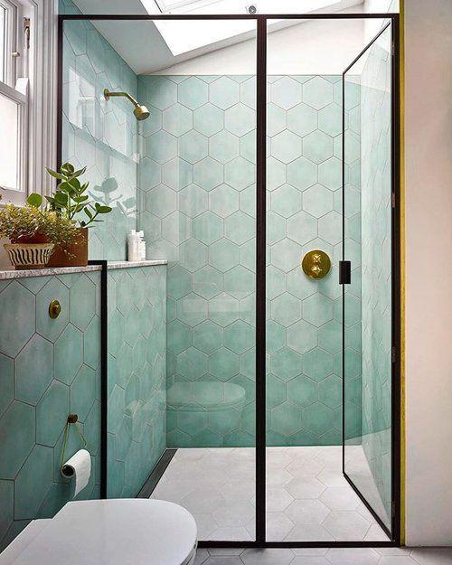 πράσινα_πλακάκια_στη_ντουζιέρα_διακόσμηση μπάνιου_