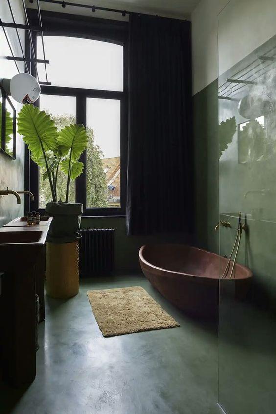 πράσινα_διακοσμητικά μπάνιου_