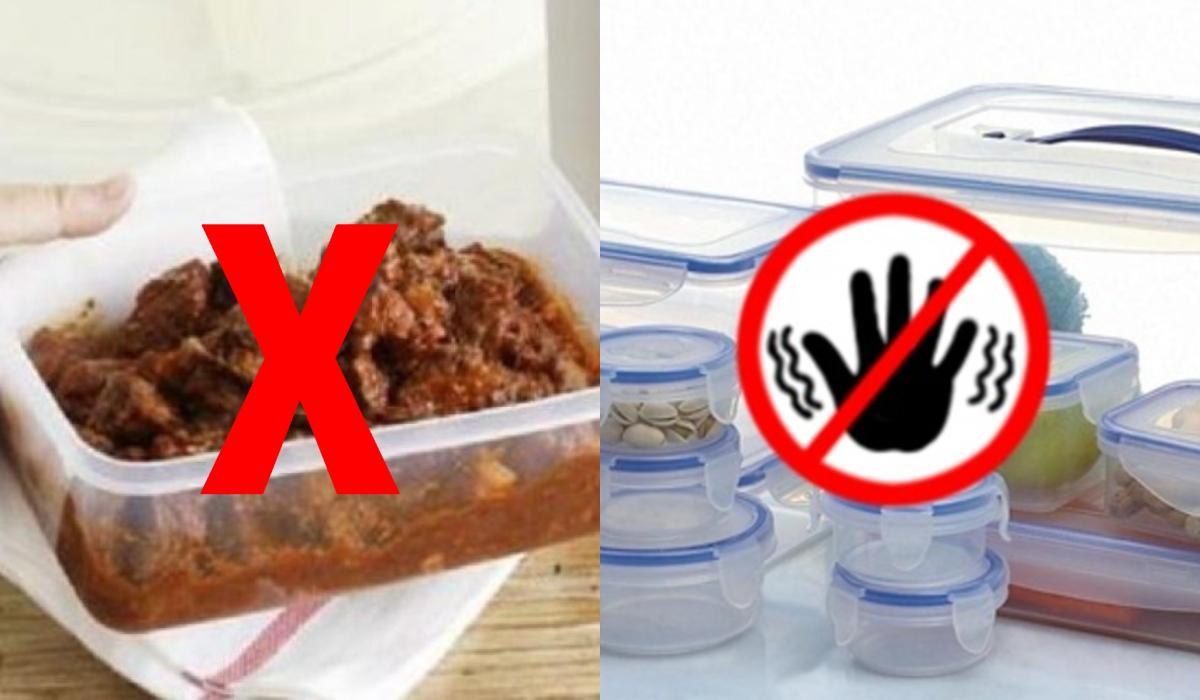 Πλαστικό τάπερ : Τα τρόφιμα που απαγορεύεται να μπουν_
