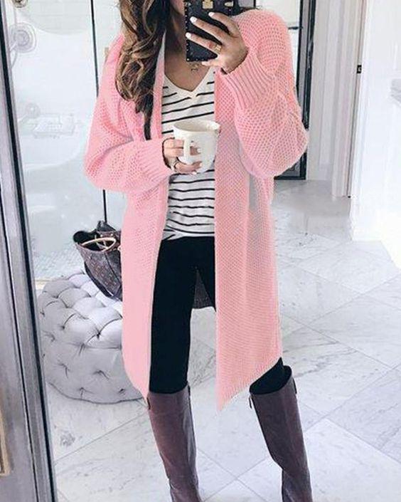 ροζ_μάλλινη ζακέτα_