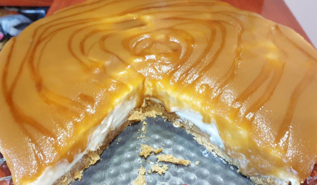 Cheesecake_ καραμέλα_ χωρίς _ψήσιμο_