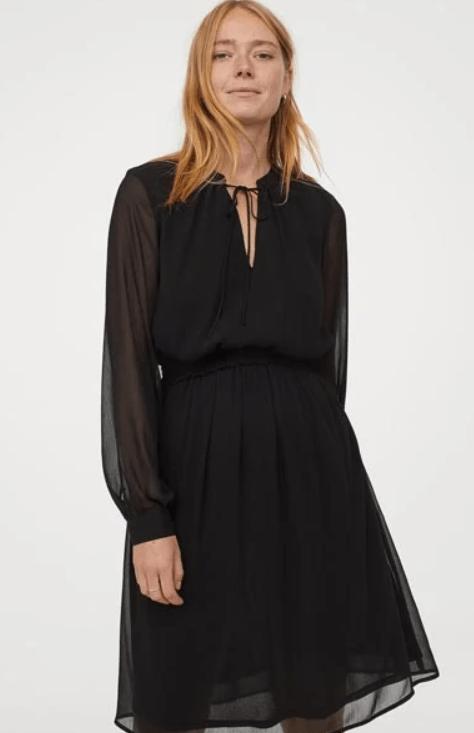 μαύρο_φόρεμα_για_εγκύους_